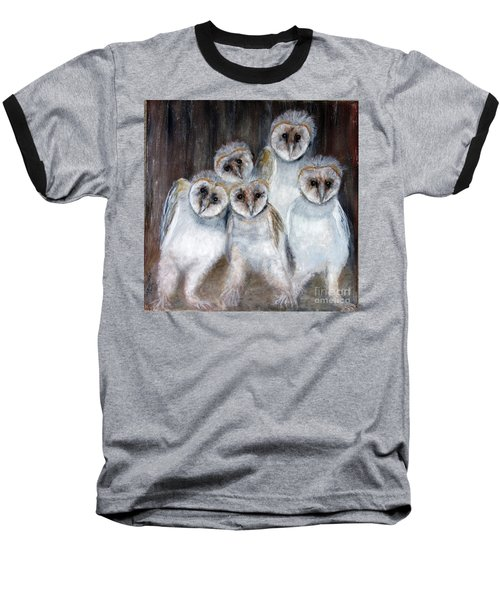 Barn Owl Chicks Baseball T-Shirt
