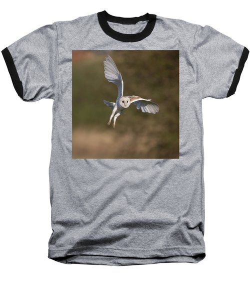 Barn Owl Cornering Baseball T-Shirt