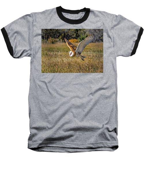 Barn Owl Flight 6 Baseball T-Shirt