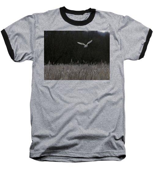 Barn Owl Hunting At Dusk Baseball T-Shirt