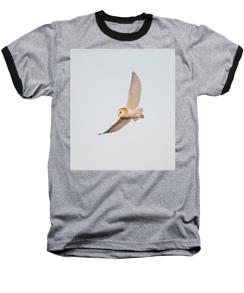 Barn Owl Hunting Baseball T-Shirt