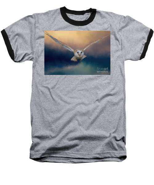Barn Owl In Flight Baseball T-Shirt