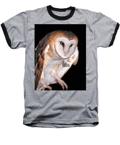 Barn Owl Baseball T-Shirt by Jean Noren