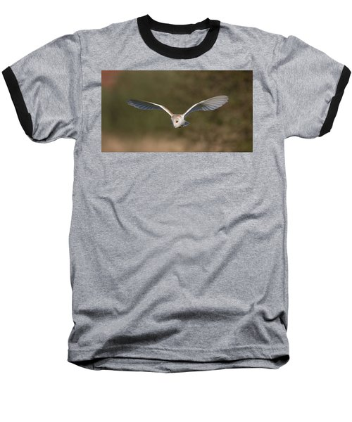 Barn Owl Quartering Baseball T-Shirt