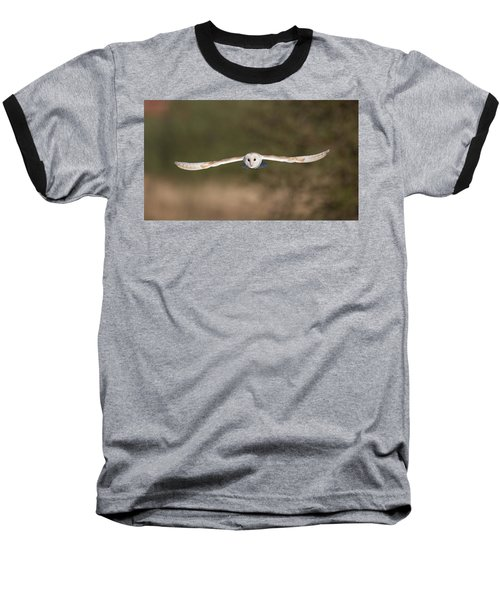 Barn Owl Wingspan Baseball T-Shirt