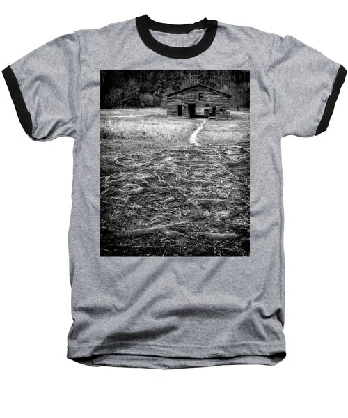 Baseball T-Shirt featuring the photograph Barn Path by Alan Raasch