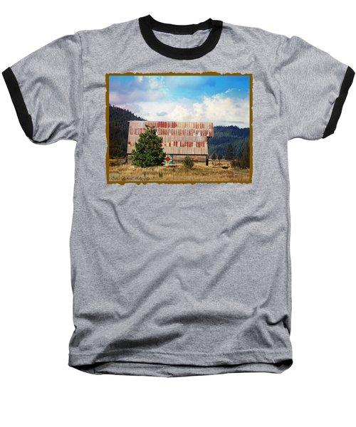 Barn Quilt Americana Baseball T-Shirt by Bobbee Rickard