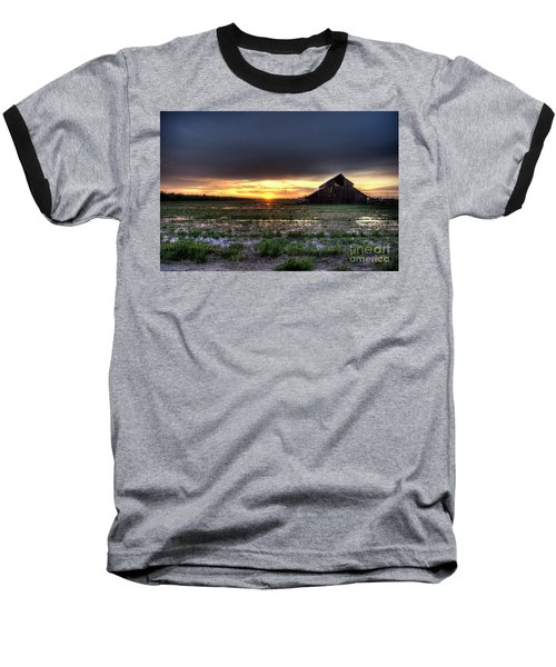 Barn Sunrise Baseball T-Shirt by Jim and Emily Bush