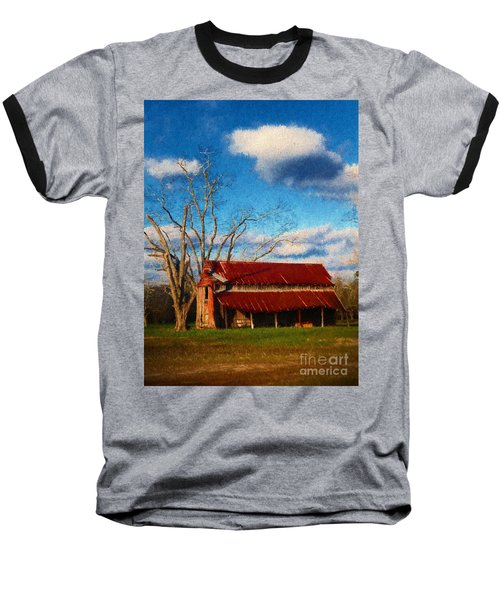 Red Roof Barn 2 Baseball T-Shirt