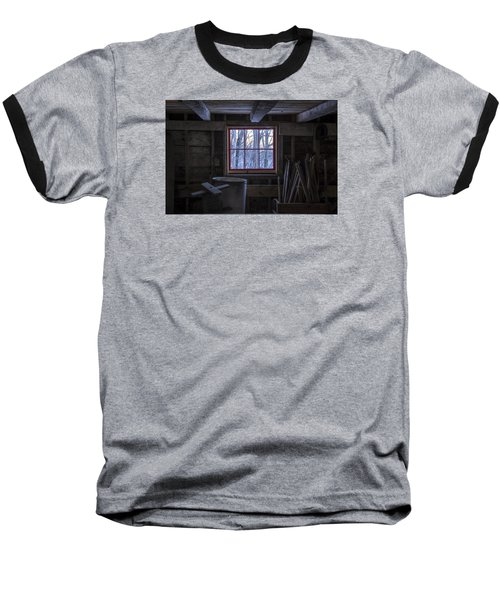 Barn Window II Baseball T-Shirt by Tom Singleton