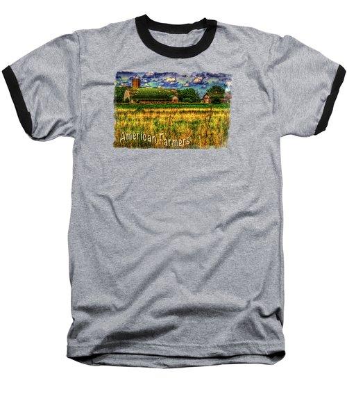 Barn With Green Roof Baseball T-Shirt