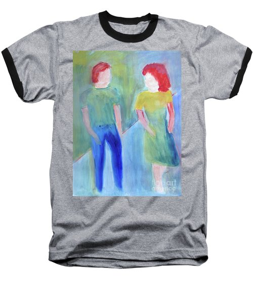 Baseball T-Shirt featuring the painting Barney And Elizabeth by Sandy McIntire