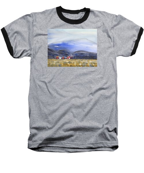 Barns In The Valley Baseball T-Shirt by Frank Bright