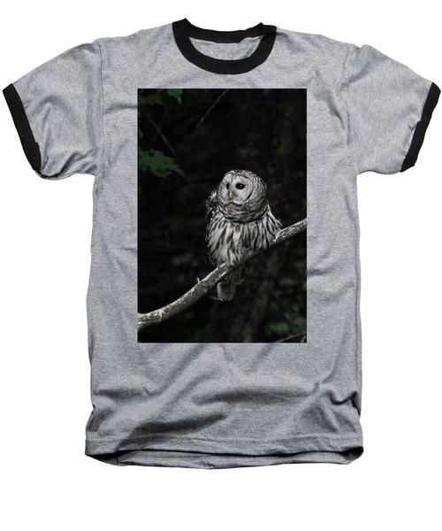 Baseball T-Shirt featuring the photograph Barred Owl 2 by Glenn Gordon