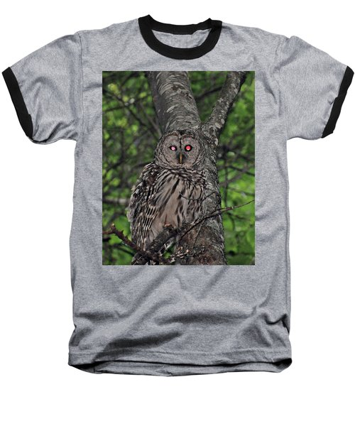 Baseball T-Shirt featuring the photograph Barred Owl 3 by Glenn Gordon