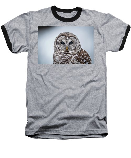 Baseball T-Shirt featuring the photograph Barred Owl by Paul Freidlund