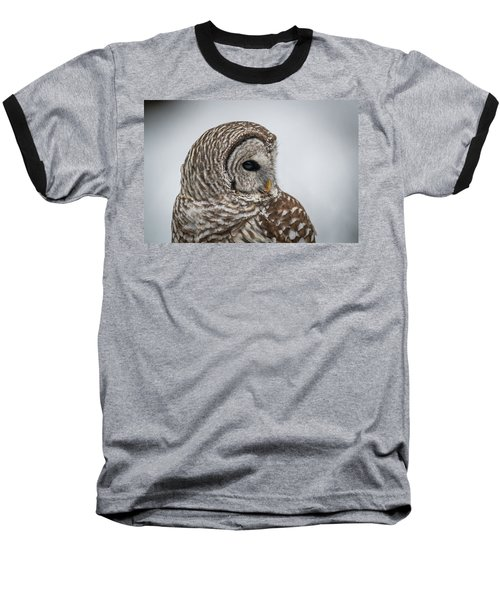 Baseball T-Shirt featuring the photograph Barred Owl Portrait by Paul Freidlund