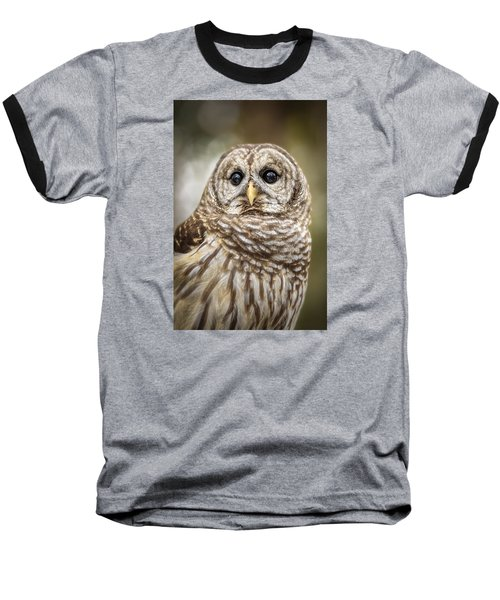 Baseball T-Shirt featuring the photograph Hoot by Steven Sparks