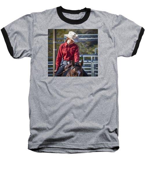 Barrel Racer Baseball T-Shirt