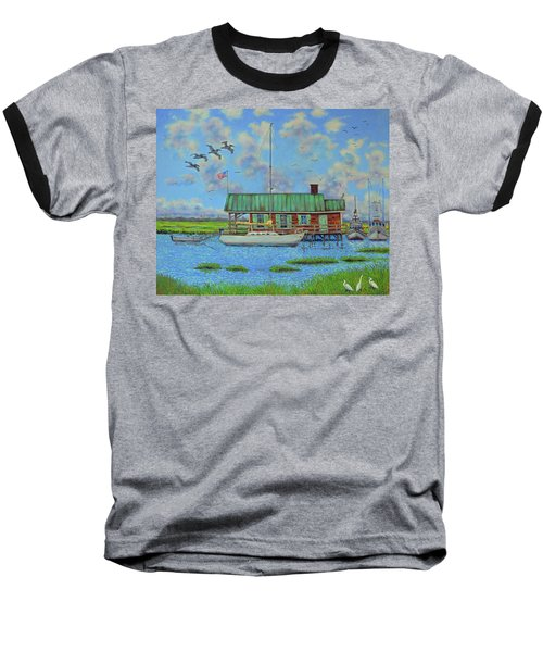 Barriar Island Boathouse Baseball T-Shirt by Dwain Ray