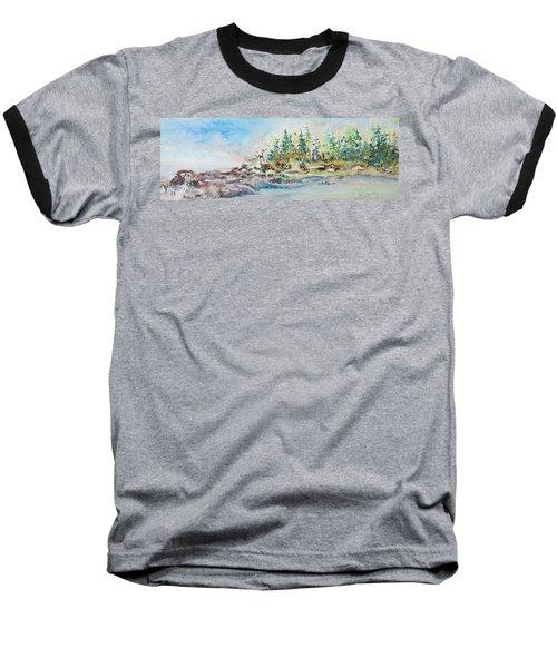 Barrier Bay Baseball T-Shirt by Joanne Smoley