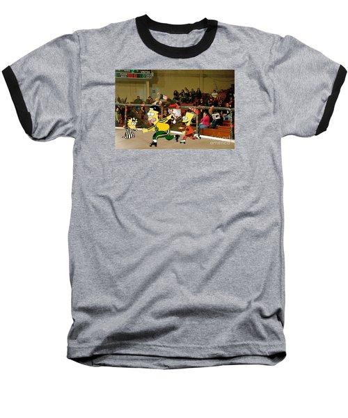 Bart Vs Homer Simpson At The Roller Derby Baseball T-Shirt