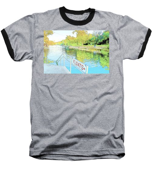 Barton Springs Sketch Baseball T-Shirt