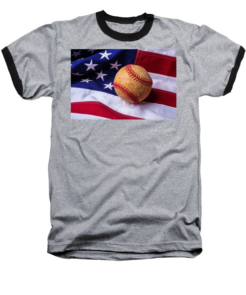 Baseball And American Flag Baseball T-Shirt