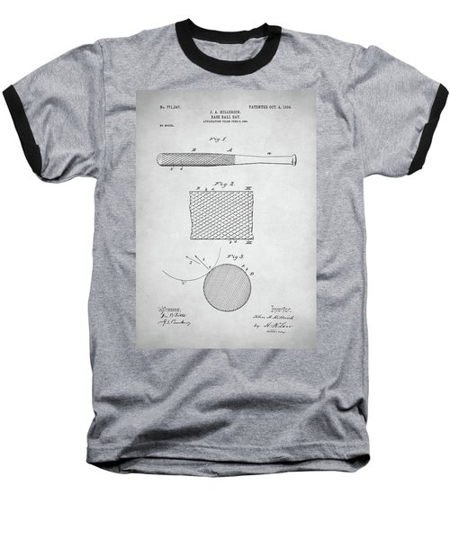 Baseball Bat Patent Baseball T-Shirt by Taylan Apukovska