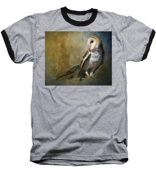 Bashful Barn Owl Baseball T-Shirt