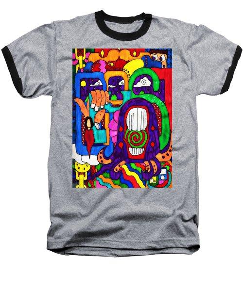 Baseball T-Shirt featuring the digital art Basic by Pennie  McCracken