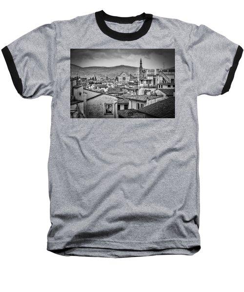 Basilica Di Santa Croce Baseball T-Shirt by Sonny Marcyan