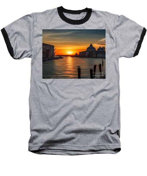 Basilica Di Santa Maria Dela Salute, Venice Baseball T-Shirt by Rod Jellison