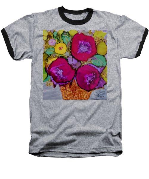 Basket Of Blooms Baseball T-Shirt