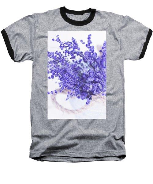 Basket Of Lavender Baseball T-Shirt by Stephanie Frey