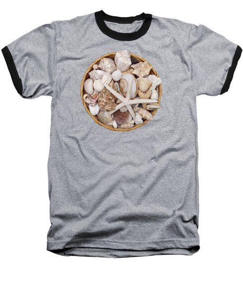 Basket Of Shells Baseball T-Shirt