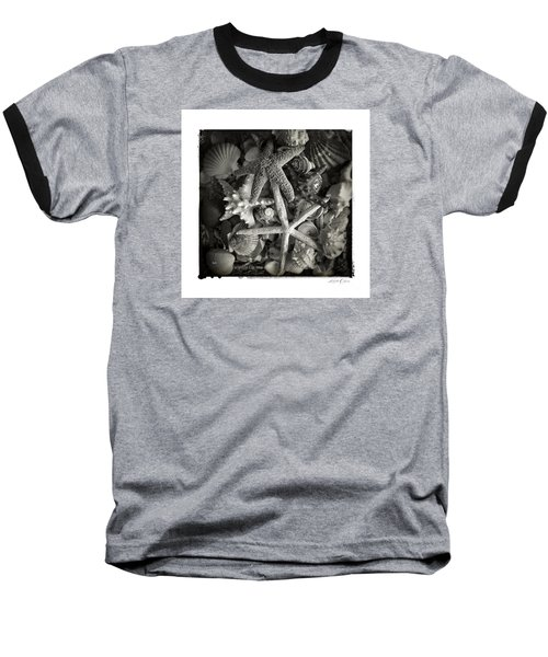 Baseball T-Shirt featuring the photograph Basket Of Shells by Linda Olsen
