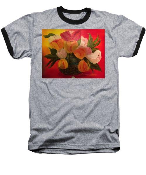 Basket Of Tulips Baseball T-Shirt