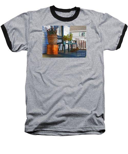 Basket Porch Baseball T-Shirt by Betsy Zimmerli