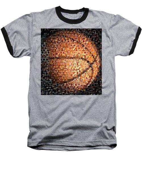 Basketball Mosaic Baseball T-Shirt