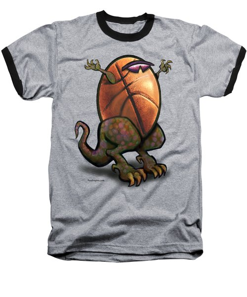 Basketball Saurus Rex Baseball T-Shirt