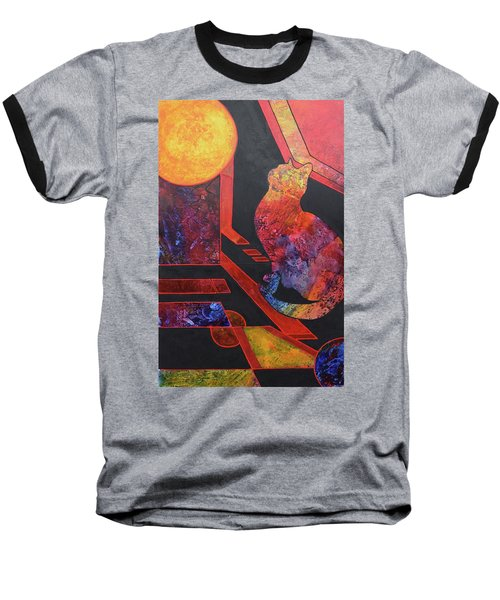Basking Cat Baseball T-Shirt