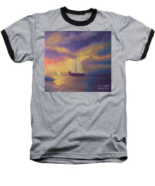 Baseball T-Shirt featuring the painting Basking In The Sun by Holly Martinson