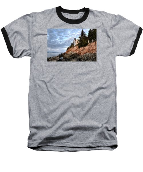 Bass Harbor Light No. 1 - Maine - Acadia Baseball T-Shirt