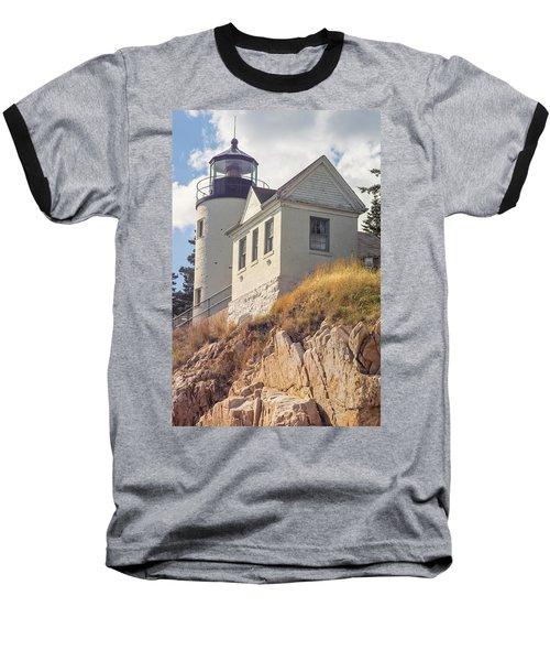Bass Harbor Light Photo Baseball T-Shirt by Peter J Sucy