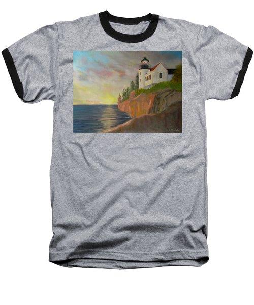 Bass Harbor Light Baseball T-Shirt
