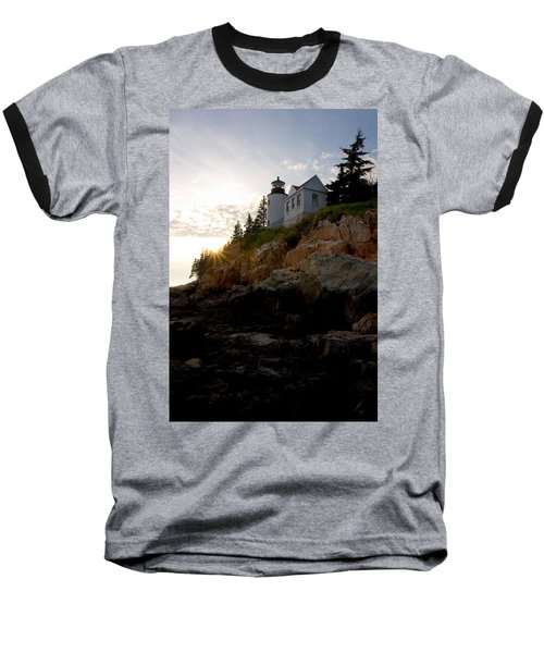 Bass Harbor Lighthouse 1 Baseball T-Shirt by Brent L Ander