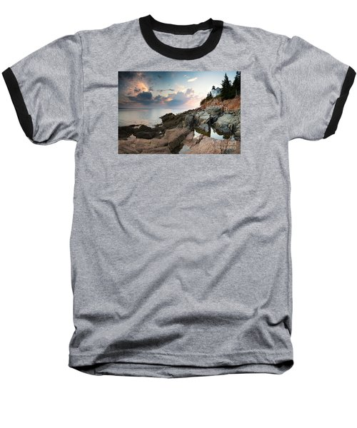 Bass Harbor Lighthouse At Dusk Baseball T-Shirt