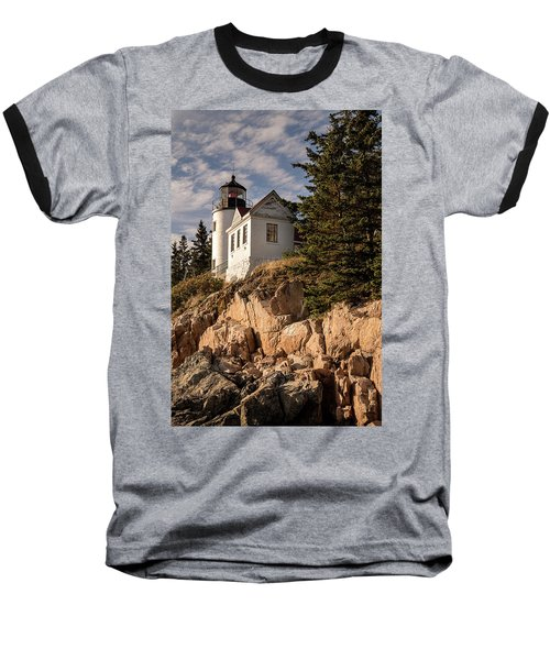 Bass Harbor Lighthouse Baseball T-Shirt