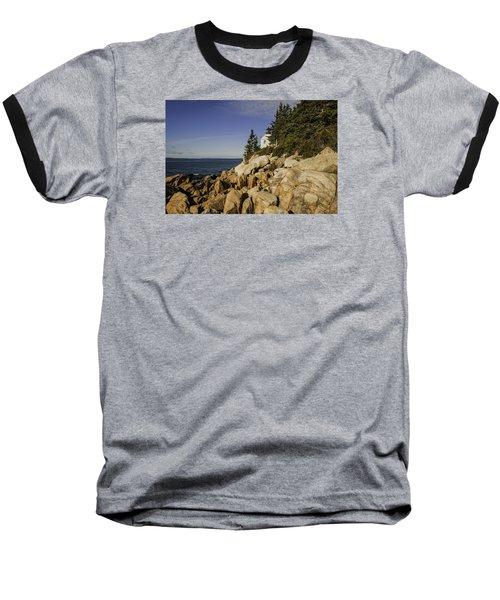 Bass Harbor Lighthouse Baseball T-Shirt